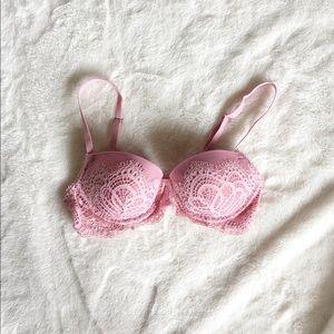 VICTORIA'S SECRET mauve pink lace bra